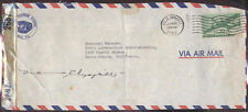 1943 CENSORED MAIL VIA CHINA CLIPPER FROM HILO HI/HAWAII CENSOR TAPE INTACT