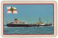 Playing Cards 1 Single Card Old BRITISH PETROLEUM TANKER Shipping Advertising 2
