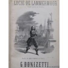 DONIZETTI G. Lucie de Lammermoor Opéra Piano Chant ca1860 partition sheet music
