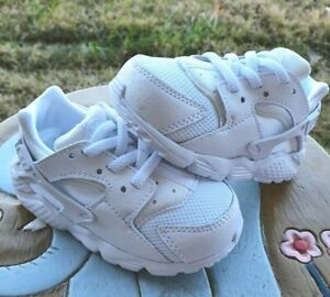 "Nike Huarache Run ""WHITE""  BRAND NEW Toddler 6C"