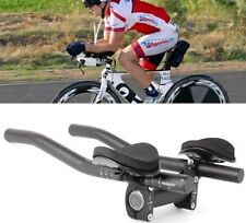 Bike Bicycle Alloy Triathlon Aero Rest Handle Bar Handlebar Clip On Tri Bars AU