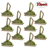 """Homend 10Pack 2"""" E Track D Ring Fittings Enclosed Trailer Cargo Tie-Down Anchors"""