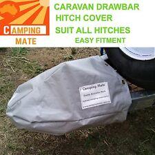 Caravan drawbar tow hitch cover camper trailer GREY NEW