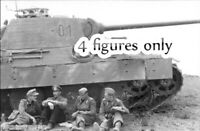 1/35 Resin WW2 German Panzer Crew 4 Tankers at Rest Unpainted Unbuild BL523