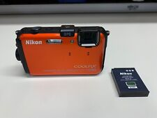 NIKON COOLPIX AW100 FULL HD WATERPROOF DIGITAL CAMERA W/ BATTERY *NO CHARGER*