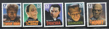 SC#3168 - 3172 - 32c Classic Movie Monsters Set of 5 Singles MNH