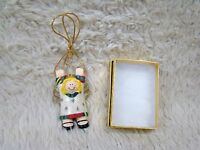 Ceramic Hanging Angel Christmas Tree Ornament with Gift Box, Holiday Decoration