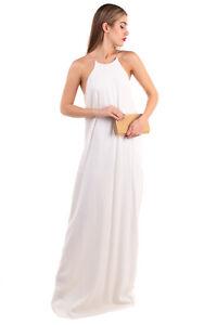 RRP €1105 CALVIN KLEIN COLLECTION Maxi Trapeze Dress Size 46 / XL Chain Straps