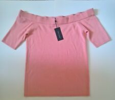 Tommy Hilfiger Women  Pink Off Shoulder Short Sleeve Knit Top XXL