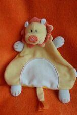 """Argos Beanstalk Yellow Orange Lion Soft Toy Baby Comforter Blankie Doudou 8"""""""