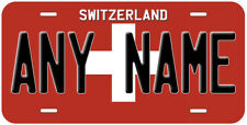 Switzerland Flag Any Text Personalized Novelty Car License Plate