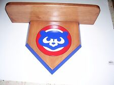 bobble heads Chicago Cubs  display shelf  cherry stain  shelf 18 x 51/2 cub face