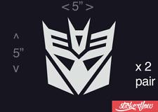 Transformers Decepticon Decal Sticker Vinyl - Car Truck Window Wall Decor
