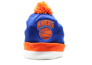 NBA Mitchell & Ness New York Knicks Vintage Stripe Cuffed Knit Beanie