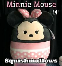 "NWT! LTD ED Squishmallows Kellytoy Disney 14"" MINNIE MOUSE Plush Doll Pillow"