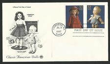 American Child Scootles Kewpie Effanbee American Dolls Us Stamps First Day Cover