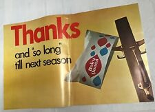 Vintage 1967 Dairy Queen DQ Thanks Closed For The Season Ad Poster Sign