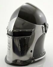 Medieval-Barbute-Helme-Ar mour-Helmet-Roman-knight-h elmets with cotton cap+exp sh