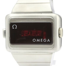 OMEGA Time Computer LED Digital Stainless Steel Quartz Mens Watch BF325278