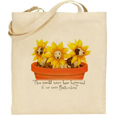 Funny Flower Pot Dogs (Bull Terriers) cotton shopping/shoulder bag-great gift