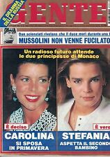 1993 10 18 - GENTE - N.43 - ANNO XXXVII - 18 10 1993 - STEFANIA DI MONACO