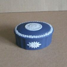 Wedgwood Jasperware Portland Blue Oval Camilla Box