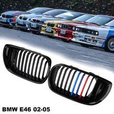 Für BMW 3er E46 Facelift Coupe Cabrio Nieren Kühlergrill Sport Grill Schwarz-