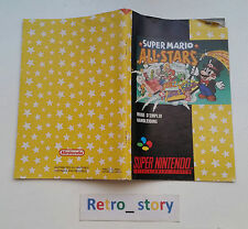 Super Nintendo SNES Super Mario All Stars Notice / Instruction Manual