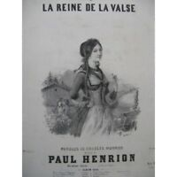 HENRION Paul La Reine de la Valse Chant Piano 1846 partition sheet music score