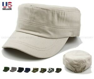 Men Women Army Cap Cadet Military Patrol Castro Hat Golf Driving Summer Baseball