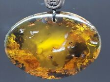 53 gr  Unique Massive Genuine Baltic Amber Pendant Necklace with leather cord