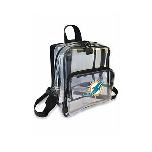 """Football Miami Dolphins Mini Clear Stadium Backpack 10"""" x 3"""" x 8"""" Licensed"""