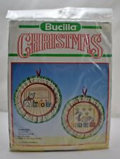 "Bucilla Christmas ""Samplers"" Hoop Pair Counted Cross Stitch Kit - 5"" Round"