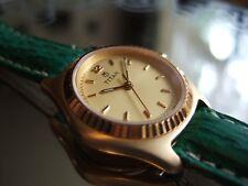 Women's Titan plaqué or Orca Datejust 814YDA 30m-100ft Watch! Shark Bracelet!