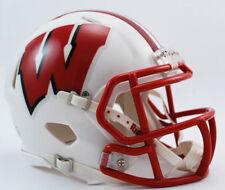 Wisconsin Badgers Ncaa Riddell Speed Authentic Mini Football Helmet