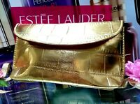 Estee Lauder Gift Cosmetic Bag☾✰Gorgeous Golden✰☽◆*~**Party Bag**~*☾FREE POST!!☽