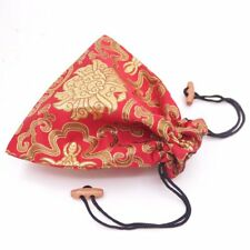 1 PCS Red Man-made Silk Cloth Jewelry Gift Bag Pouch Drawstring Pouches 17X17cm