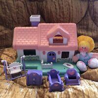 VTG 1988 Smooshees Cuddlers At Home Fisher Price #7230 House Furniture Smooshies