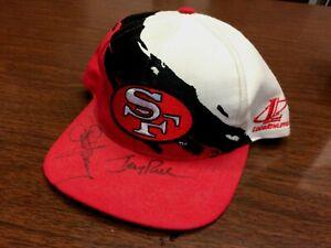 Steve Young Jerry Rice Autographed hat cap 49ers  autograph signed