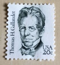 US Postage SCOTT 1861 1 Stamp THOMAS GALLAUDET STAMPS 20 CENT FACE MNH