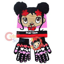 Ni Hao Kai Lan Beanie Hat Gloves Set with Pom Pom
