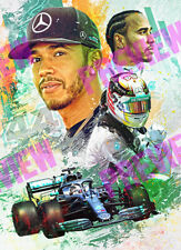 Lewis Hamilton - F1 Racing Poster Montage - A3 Size