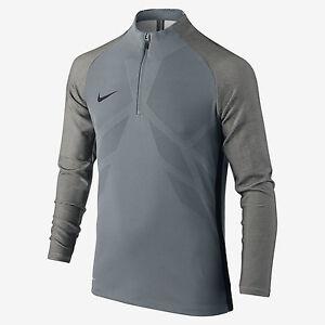Nike Strike AeroSwift Big Kids' L/S Soccer Drill Top  842569 065 Grey Sz M L