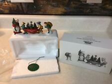 Dept 56 North Pole Series Delivering The Christmas Greens Set of 2 56373 Euc