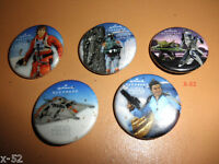STAR WARS HALLMARK PIN set SDCC Comic Con BOBA FETT han carbonite YODA luke REX