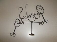 Metal Wall Mounted Wine Bottle Rack Hold Wine Glasses Bar or Kitchen Home Decor