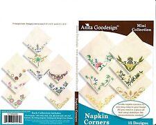 Anita Goodesign Napkin Corners Embroidery Machine Design Cd New 121Maghd