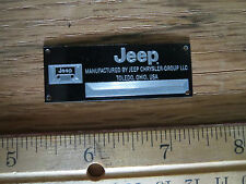 Jeep Metal Display Plaque Model Diecast 1/18 1/24 1/43 Wrangler CJ Willys Kit