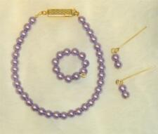 "Purple Pearl Jewelry Set 14Kgf Cissy 18-20"" Miss Revlon Sue Vintage Fashion Doll"