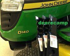 """Set/3 48"""" Gator mulching mower blades John Deere 145, 155C, D140, D150, D155"""